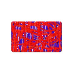 Blue and red pattern Magnet (Name Card)