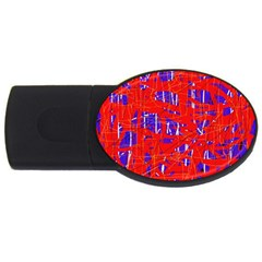 Blue and red pattern USB Flash Drive Oval (4 GB)