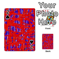 Blue and red pattern Playing Cards 54 Designs