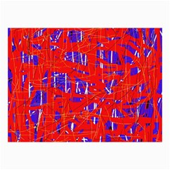 Blue and red pattern Collage Prints
