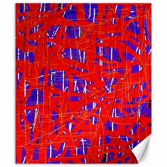 Blue and red pattern Canvas 20  x 24