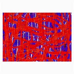 Blue and red pattern Large Glasses Cloth