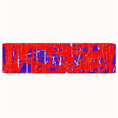 Blue and red pattern Large Bar Mats