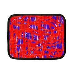 Blue and red pattern Netbook Case (Small)