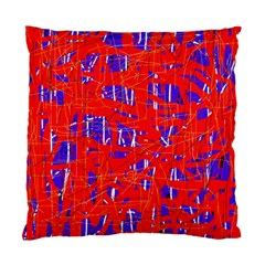 Blue and red pattern Standard Cushion Case (One Side)