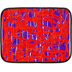 Blue and red pattern Fleece Blanket (Mini)