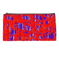Blue and red pattern Pencil Cases