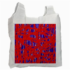 Blue and red pattern Recycle Bag (Two Side)