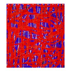 Blue and red pattern Shower Curtain 66  x 72  (Large)