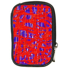 Blue and red pattern Compact Camera Cases