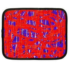Blue and red pattern Netbook Case (XXL)