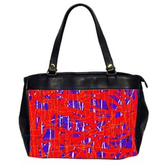 Blue and red pattern Office Handbags (2 Sides)
