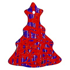 Blue and red pattern Ornament (Christmas Tree)
