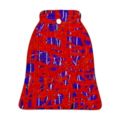 Blue and red pattern Bell Ornament (2 Sides)