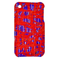 Blue and red pattern Apple iPhone 3G/3GS Hardshell Case