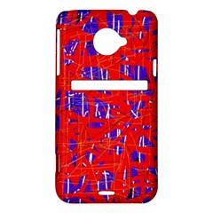 Blue and red pattern HTC Evo 4G LTE Hardshell Case