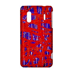 Blue and red pattern HTC Evo Design 4G/ Hero S Hardshell Case