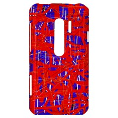 Blue and red pattern HTC Evo 3D Hardshell Case