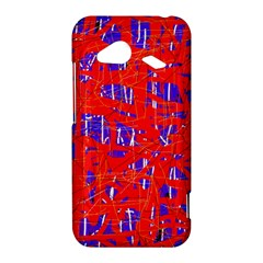 Blue and red pattern HTC Droid Incredible 4G LTE Hardshell Case