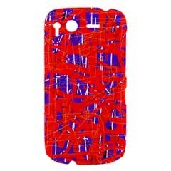 Blue and red pattern HTC Desire S Hardshell Case