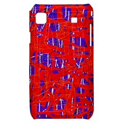Blue and red pattern Samsung Galaxy S i9000 Hardshell Case