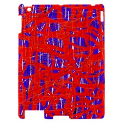 Blue and red pattern Apple iPad 2 Hardshell Case