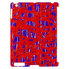 Blue and red pattern Apple iPad 2 Hardshell Case (Compatible with Smart Cover)