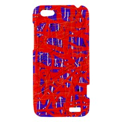 Blue and red pattern HTC One V Hardshell Case