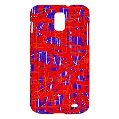 Blue and red pattern Samsung Galaxy S II Skyrocket Hardshell Case
