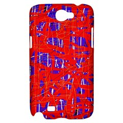 Blue and red pattern Samsung Galaxy Note 2 Hardshell Case