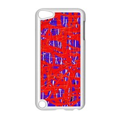 Blue and red pattern Apple iPod Touch 5 Case (White)
