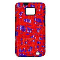 Blue and red pattern Samsung Galaxy S II i9100 Hardshell Case (PC+Silicone)
