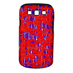Blue and red pattern Samsung Galaxy S III Classic Hardshell Case (PC+Silicone)