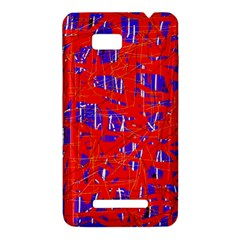 Blue and red pattern HTC One SU T528W Hardshell Case