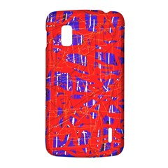 Blue and red pattern LG Nexus 4