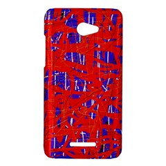 Blue and red pattern HTC Butterfly X920E Hardshell Case