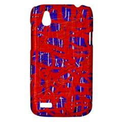 Blue and red pattern HTC Desire V (T328W) Hardshell Case