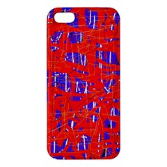 Blue and red pattern Apple iPhone 5 Premium Hardshell Case