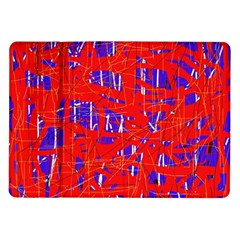 Blue and red pattern Samsung Galaxy Tab 10.1  P7500 Flip Case