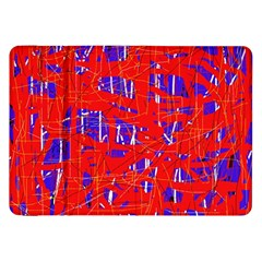 Blue and red pattern Samsung Galaxy Tab 8.9  P7300 Flip Case