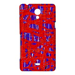 Blue and red pattern Sony Xperia T