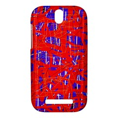 Blue and red pattern HTC One SV Hardshell Case
