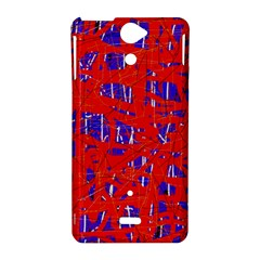 Blue and red pattern Sony Xperia V