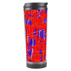 Blue and red pattern Travel Tumbler