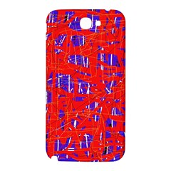 Blue and red pattern Samsung Note 2 N7100 Hardshell Back Case