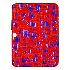 Blue and red pattern Samsung Galaxy Tab 3 (10.1 ) P5200 Hardshell Case