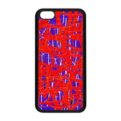 Blue and red pattern Apple iPhone 5C Seamless Case (Black)