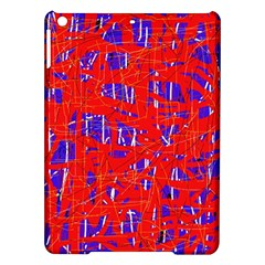 Blue and red pattern iPad Air Hardshell Cases