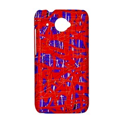 Blue and red pattern HTC Desire 601 Hardshell Case