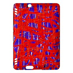 Blue and red pattern Kindle Fire HDX Hardshell Case